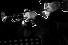 Randy Brecker** (RedArt photographer) Tags: portrait bw roma jazz randybrecker 123bw redartphoto
