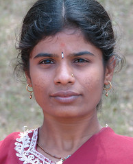Girl 3 - IMG 0037 e (Eric.Parker) Tags: portrait sculpture india girl stone children temple women child 2006 carving karnataka mysore somnathpur keshav 50millionmissing hoyshala