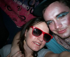 Me with Boy George (The Cardiff Kid) Tags: boy party woman man students girl lady student 80s 1980s fancydress crossdresser lookalike