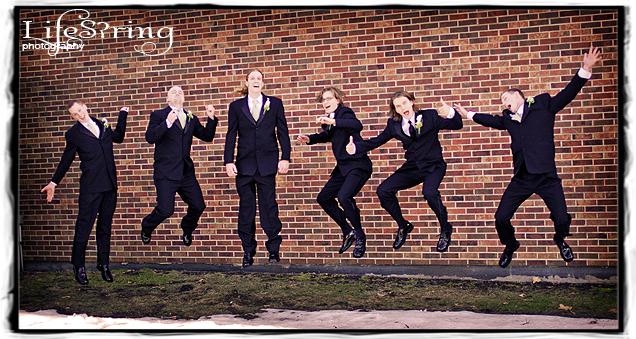 Ben Groomsmen Jump