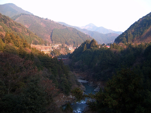Okutama vally canyon