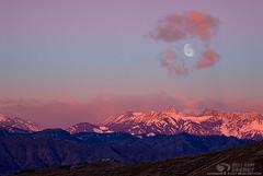 Framed (bksecretphoto) Tags: winter moon mountains cold composite photoshop sunrise cs3 bksecret