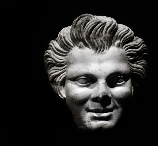 Imperial Rome Exhibit , Fernbank - Satyr Head