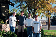 Boys on Porch (j_red) Tags: family steve josh salem morningside scannednegatives