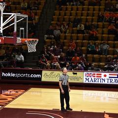 MIKE EADES (SneakinDeacon) Tags: vt vatech hokies virginiatech cassellcoliseum referee basketball hawks marylandeasternshore