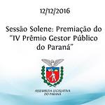 Prêmio Gestor Público do Paraná 12/12/2016