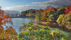 Nakayama Pond (The Other Martin Tenbones) Tags: autumn japan pond osaka kansai hdr flickrsbest dmclx2