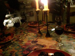 candle light dinner (leonapoleon) Tags: israel north        tuval