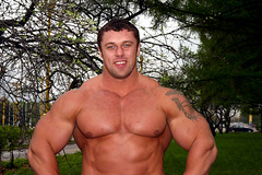 Michael Sidorychev (156) (Pete90291) Tags: pecs muscular chest tattoos strong muscleman biceps abs strongman strongmen worldsstrongestman hugethighs hugelegs michaelsidorychev tattooedmuscle mikhailsidorychev