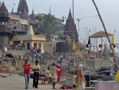 Manikarnika Ghat (Durga22) Tags: india burning varanasi ganga benares ghat gange manikarnika manikarnikaghat holyganga burninghat