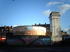 Stockwell war memorial (hugovk) Tags: camera uk greatbritain flowers winter england elephant london tower clock digital mural memorial war december unitedkingdom britain air wwii 2006 kitchener lord moustache poppy poppies londres gb ww2 colourful raid shelter hvk warmemorial talvi lambeth shelters sw9 lontoo airraidshelter stockwell southlambethroad claphamroad greaterlondon southlambeth joulukuu yourcountryneedsyou deeplevel deeplevelshelter imag0539 lordkitchener hugovk geo:country=unitedkingdom stockwellwarmemorial exif:ISO_Speed=50 geo:locality=london exif:Focal_Length=77mm digitalcamerads5mp exif:Flash=autodidnotfire exif:Aperture=30 exif:Orientation=horizontalnormal exif:Exposure_Bias=0 exif:Exposure=1279 geo:region=england geo:county=greaterlondon ds5mp camera:Model=ds5mp camera:Make=digitalcamera geo:neighbourhood=southlambeth meta:exif=1380269072