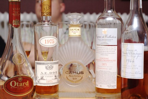 Cognac lineup ready for degustation (pic andreasnilsson1976)