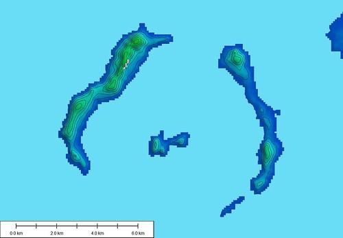 Iles de Los - SRTM Contours 20-m Intervals (1-62,500)