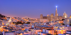 San Francisco, North Beach at dusk (canbalci) Tags: sanfrancisco night skyscraper dusk northbeach transamerica hdr helluva photomatix p1f1 fotorafkraathanesi