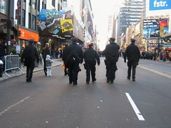 NYPD Cops Walking Up the Street (buff_wannabe) Tags: nyc police nypd demonstration cop