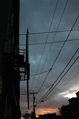 Sunset under Wire