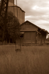 times gone by (frumbert) Tags: grass shed silo fx