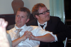 Tim and Simon (Timmy Toucan) Tags: park wedding party love fun happy tim december champagne jennie marriage wed 2006 reception booze laughter hugs marry drinkin laughs studley