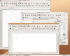Ubuntu: Office applications: spreadsheet, wordprocessing, presentation, database..