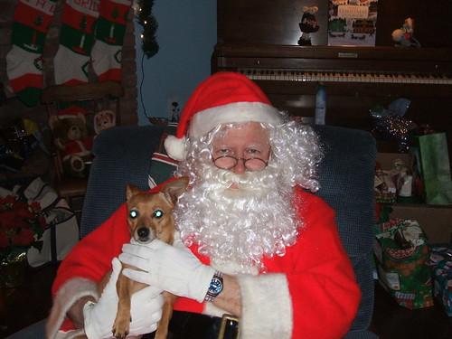 Mina with Santa