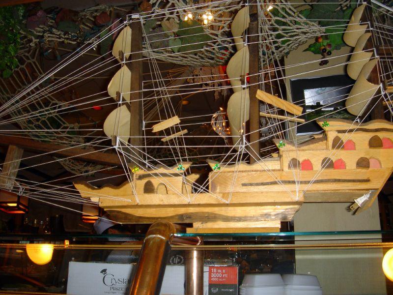 Sushi boat interior