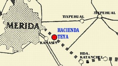 Location of Hacienda Teya