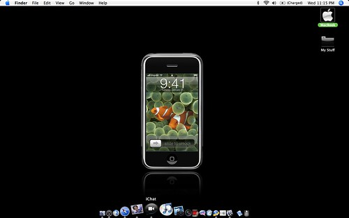 iPhone Desktop by powerbooktrance