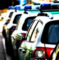 Police Line (Al Fed) Tags: reflection cars colors backlight germany stuttgart police line policecar orton 250v10f flickrsjobdifferent