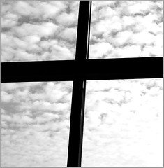 Today's Cross (Bruce Barone) Tags: clouds cross viewfrommybed loftwindow