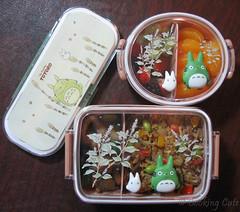 [totoro bento boxes and utensil set]