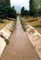 Tirana's burstling sewer I mean river
