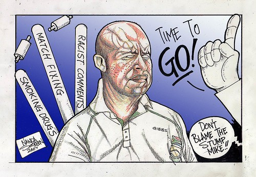 A cartoon of Herschelle Gibbs
