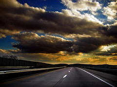 Empty Road (Nicholas_T) Tags: road winter sky weather clouds lowlight highway driving pennsylvania creativecommons allentown lehighvalley stratocumulus lehighcounty usroute22