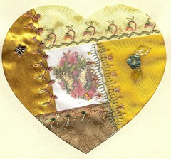 Gold Butterfly Heart