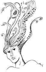Io non suono la musica. La disegno. #2 (SuperElena) Tags: china arte musica disegni concorsi scarabocchi smatitando