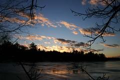 Icy East Pond (Razzy Raz) Tags: morning light sunset sky cloud sun reflection ice nature silhouette sunrise ilovenature pond maine icy eastpond prockter