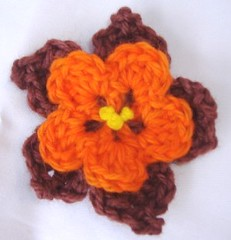 Fall Crochet flower