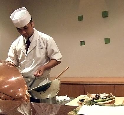 tempura chef at tenshin