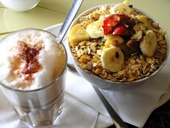 Friday breakfast (kukiani) Tags: food coffee fruits breakfast eating eat yoghurt muesli