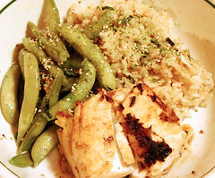 Halibut and Snap Peas