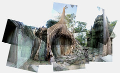 Ta Prohm Panograph (Chalky Lives) Tags: ruins cambodia siemreap angkor taprohm panography panograph