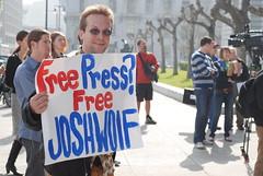 Free press? Free Josh Wolf - by Steve Rhodes