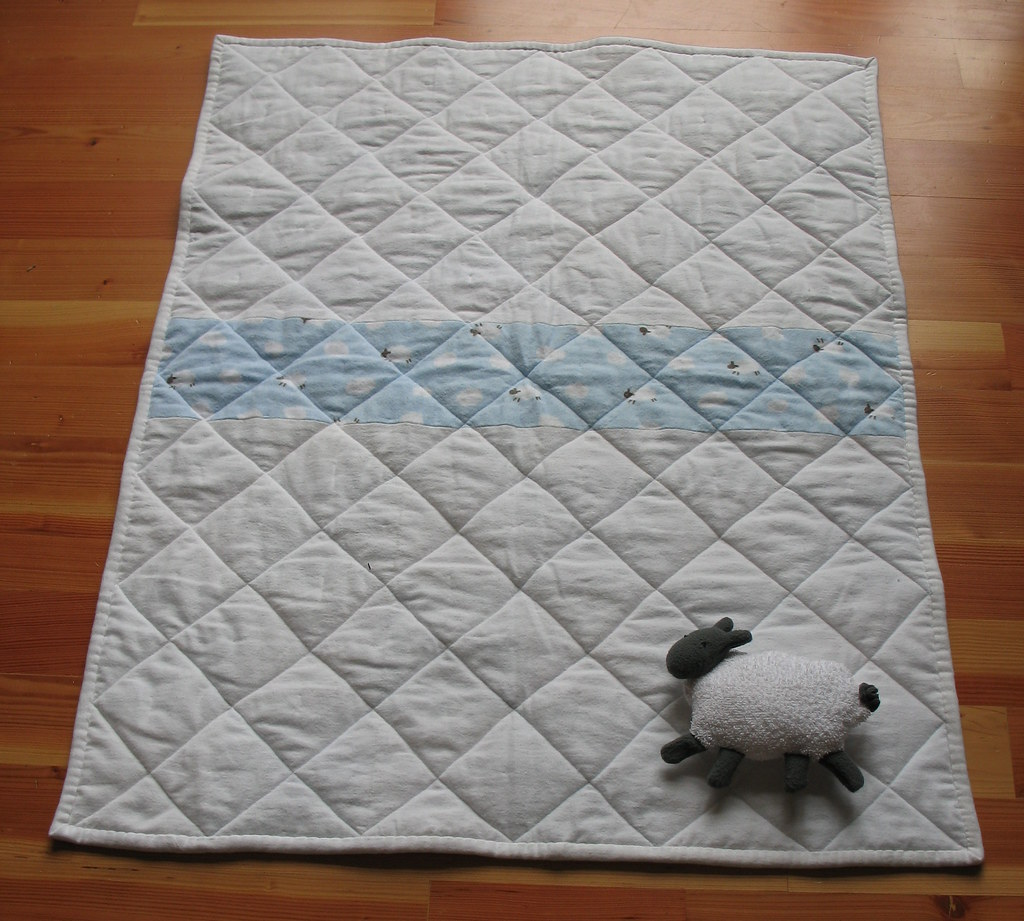 Flying Sheep Baby Quilt - Back