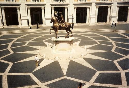 Birdseye View of Campidoglio in Rome, Italy