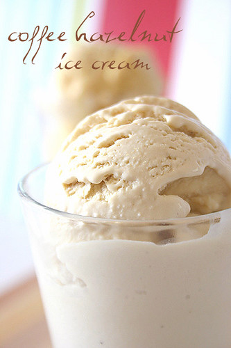 Coffee hazelnut icecream