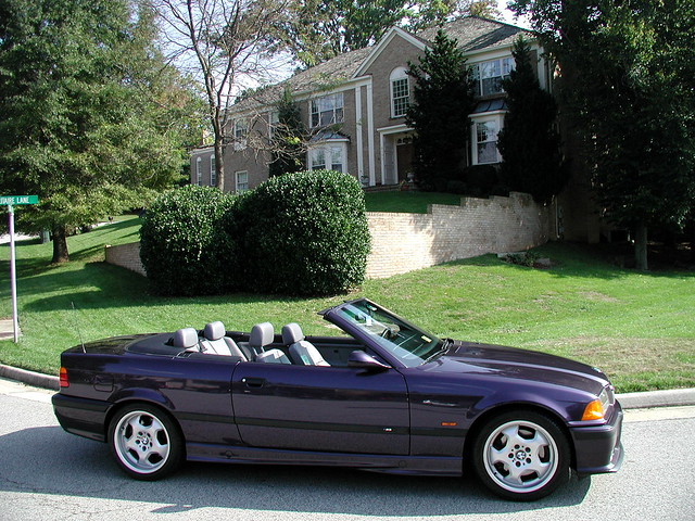 purple bmw m3 convertible 1999