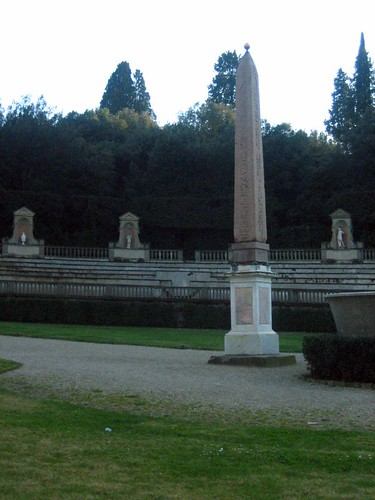 An obelisk from Luxor in the Boboli Gardens