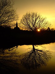 Sunset on the Canal (Chris Beesley) Tags: sunset sky reflection church water beautiful canal interesting gorgeous explore winner stunning fabulous lymm supershot interestingness43 explored i500 25faves impressedbeauty superbmasterpiece beyondexcellence naturessilhouettes
