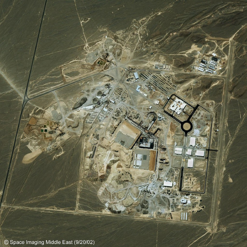 Satellite image of Iranian nuclear facility at Natanz, in the Isfahan province of Iran