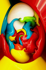 Scrambled (rcvernors) Tags: pink blue red wild white abstract color green topf25 yellow photoshop wonderful geotagged cool shiny colorful awesome egg digitalart vivid computerart thumbsup wacky aw scrambled allrightsreserved photoshopart thisisyourbrain rcvernors copyrightrickchildersdigitalmedia2007allrightsreserved
